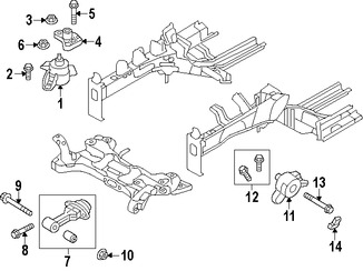 Montura del motor Original para Hyundai Elantra Coupe