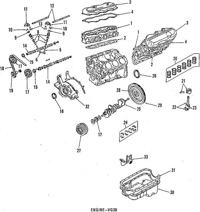 1998 nissan maxima engine diagram