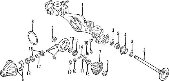 Rodamiento Piñón de Diferencial Original para Nissan